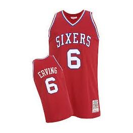 Camiseta Julius Erving Philadelphia 76ers Roja