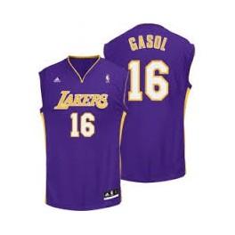 Camiseta Pau Gasol Los Angeles Lakers Purpura