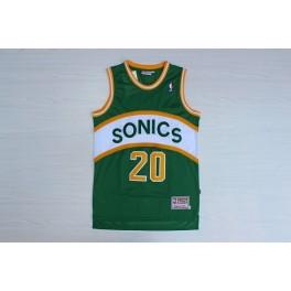 Camiseta Gary Payton Seattle SuperSonics Verde