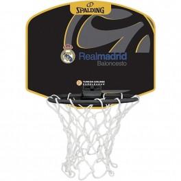 Minicanasta Real Madrid Spalding Miniboard Black