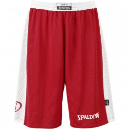 Pantalones Spalding Essential Reversible Shorts Rojo / Blanco
