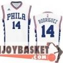 "Camiseta Sergio Rodriguez ""El Chacho"" Philadelphia 76ers Home"