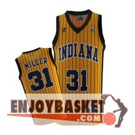 Camiseta Reggie Miller Indiana Pacers Yellow