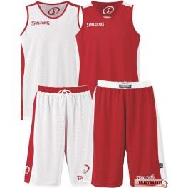 Conjunto Spalding Essential Reversible Rojo Blanco