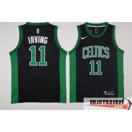 Camiseta Kyrie Irving Boston Celtics Black and Green