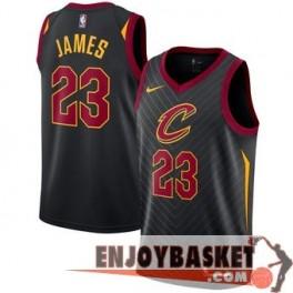 Camiseta Lebron James Cleveland Cavaliers Black 2017/2018 Niño