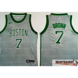 Camiseta Jaylen Brown Boston Celtics Grey