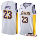 Camiseta Lebron James Los Angeles Lakers White Edition