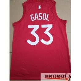 Camiseta Marc Gasol Toronto Raptors North Roja 2019