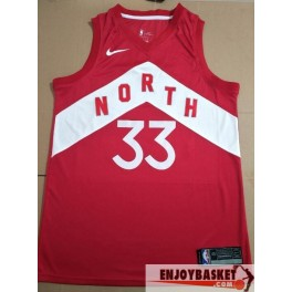 Camiseta Marc Gasol Toronto Raptors North Roja 2019