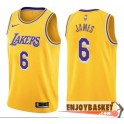 Camiseta Lebron James Los Angeles Lakers 6 Home Edition 2019/2020