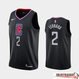 Camiseta Khawi Leonard Los Angeles Clippers Black Edition