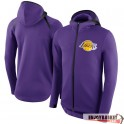 Los Angeles Lakers Nike Showtime Therma Flex Performance Full-Zip Hoodie