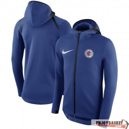 Chaqueta NBA LA Clippers Nike Showtime Therma Flex Performance Full-Zip Hoodie