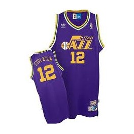 Camiseta John Stockton Utah Jazz Purpura