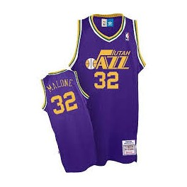 Camiseta Karl Malone Utah Jazz Purpura