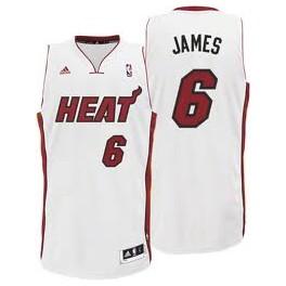 Camiseta Lebron James Miami Heat Blanca