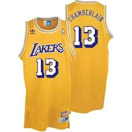 Camiseta Wilt Chamberlain Los Angeles Lakers Amarilla