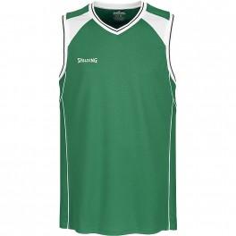 Camiseta Spalding Crossover Tank Top Verde / Blanco