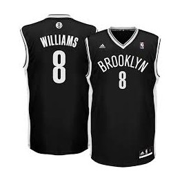 Camiseta Deron Williams Brooklyn Nets Negra
