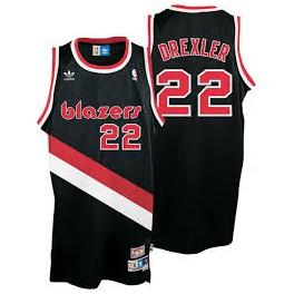Camiseta Clyde Drexler Portland Trail Blazers Negra
