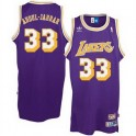 Camiseta Kareem Abdul Jabbar Los Angeles Lakers Purpura