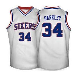 Camiseta Charles Barkley Philadelphia Sixers Blanca