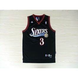 Camiseta Allen Iverson Philadelphia 76ers Negra