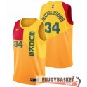 Camiseta Giannis Antetokounmpo Milwaukee Bucks City Edition