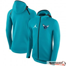 Chaqueta NBA Charlotte Hornets Jordan Showtime Therma Flex Performance Full-Zip Hoodie