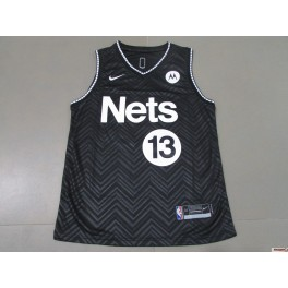 Camiseta James Harden Brooklyn Nets Black Away