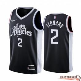 Camiseta Kawhi Leonard Los Angeles Clippers Black City Edition