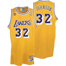 Camiseta Magic Johnson Los Angeles Lakers Amarilla