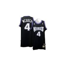 Camiseta Chris Webber Sacramento Kings Negra