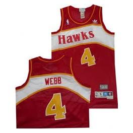Camiseta Spud Webb Atlanta Hawks Roja